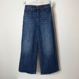 Madewell Wide-Leg Crop Jeans Size 24 Distressed